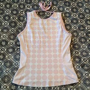 Adidas workout shirt tank top climacool m pink dot
